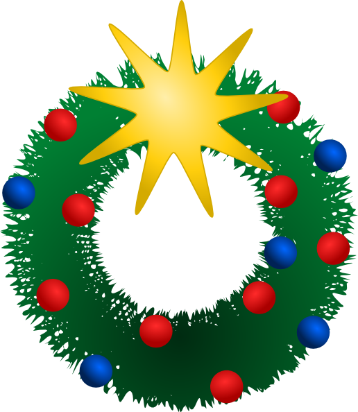 Christmas wreath reef. Clip art at clker