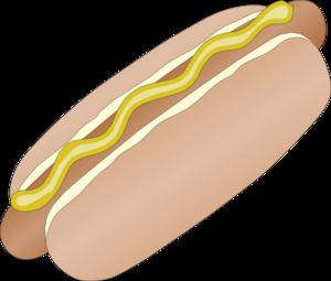 hot dog in bun with mustard clip art at clker com vector clip art rh clker com