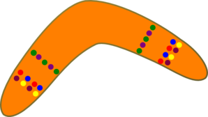 Orange Boomerang Clip Art