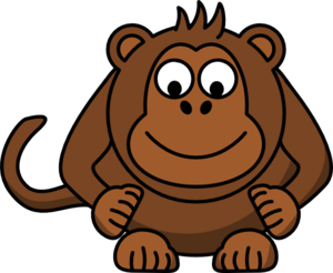 Monkey Looking Down Clip Art