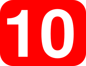 Number 10 Red Background Clip Art