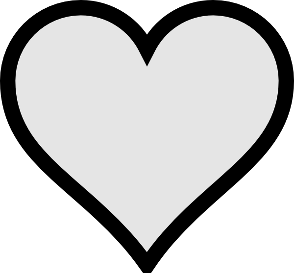 Very Small Gray Heart With Transparent Background Clip Art ...
