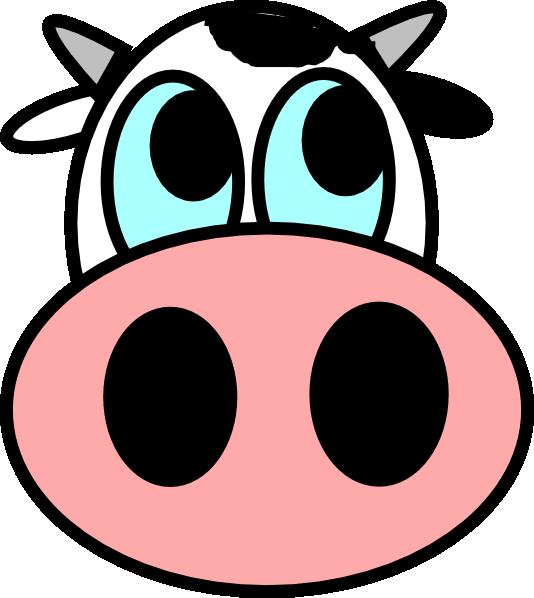 Cow Face Clip Art at Clker.com - vector clip art online ...