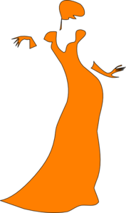 Orange Dancing Lady Clip Art