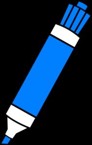 blue dry erase marker clip art at clker com vector clip art online rh clker com map marker clipart market clip art