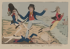 John Bull Fighting The French Single Handed  / P.f.l.b. Fecit. Clip Art