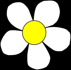 White Yellow Daisy Clip Art at Clker.com - vector clip art ... White Daisy Flowers Clipart