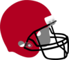 Crimson Football Helmet Clip Art