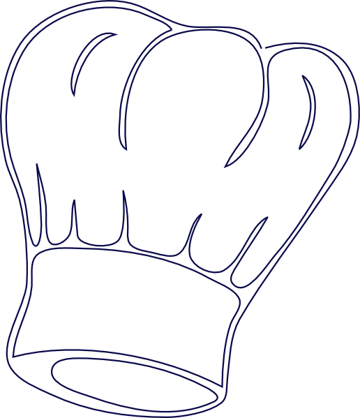 Chefs hat free colouring pages for Printable chef hat template