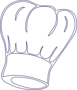 Outlined Chef Hat Clip Art