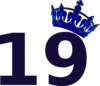 Pink Tilted Tiara And Number 16 Clip Art