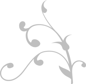 Grey Twisted Branch Clip Art