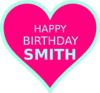 Smith Bday14 Clip Art