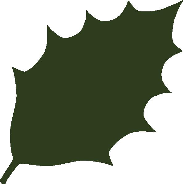 Dark Green Leaf Clip Art At Clker.com