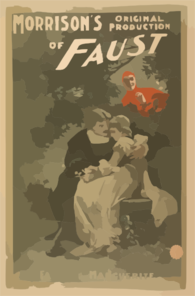 Morrison S Original Production Of Faust Clip Art