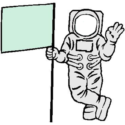 astronaut clip art black and white - photo #7