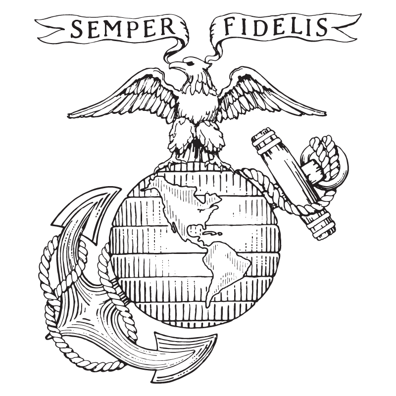 X usmc old logo v free images at vector clip for Usmc coloring pages