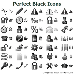 Perfect Black Icons Image