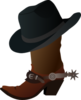 Cowboy Boot And Hat Md Image