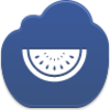 Free Dark Blue Cloud Watermelon Piece Image