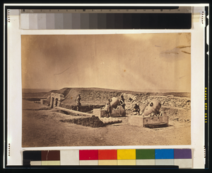 Mortar Batteries In Front Of Picquet House Light Division Image