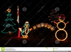 Christmas Tree With Lights Clipart Image