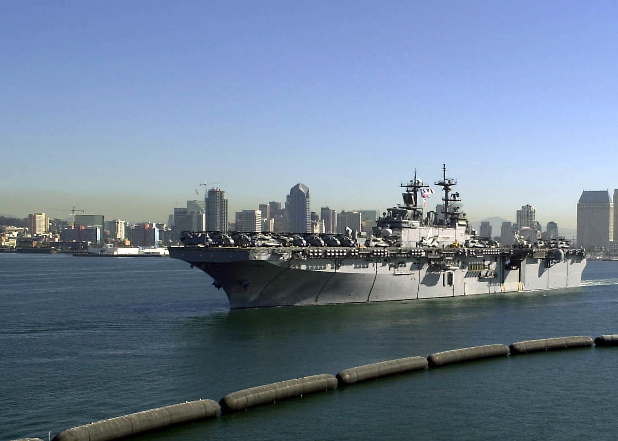uss boxer  lhd 4  departs san diego  calif   on a