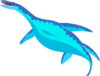 Blue Aquatic Dinosaur Clip Art