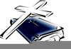 Clipart Bible And Cross Image