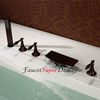 Antique Style Oil Rubbed Bronze Finish Bathtub Faucet With Handshower Image