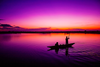 Fishing In Sunrise Image