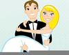 Western Bride And Groom Clipart Image