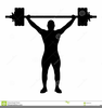 Weightlifter Clipart Black And White Image
