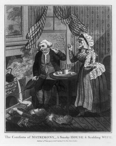 The Comforts Of Matrimony - A Smoky House And Scolding Wife Image
