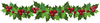 Holly Garland Clipart Image