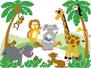 free printable baby jungle animal clipart free images at clker com rh clker com  free jungle animal border clipart
