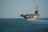 Uss Nimitz (cvn 68) Navigates One Of Several Sea Lanes Image