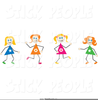Stick Figure Dancing Clipart Image