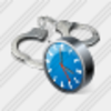 Icon Handcuffs Clock Image