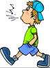 Person Whistling Clipart Image