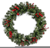Christmas Garlands Wreaths Clipart Image
