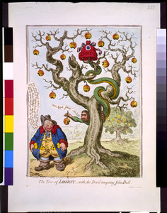 The Tree Of Liberty,-with, The Devil Tempting John Bull  / Js. Gy. Inv. & Ft. Image