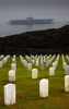 He Decommissioned Uss Constellation (cv 64) Is Towed Past Fort Rosecrans National Cemetery In Point Loma, Calif. Image