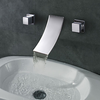 Widespread Designer Curve Spout Waterfall Bathroom Sink Faucet--faucetsuperdeal.com Image