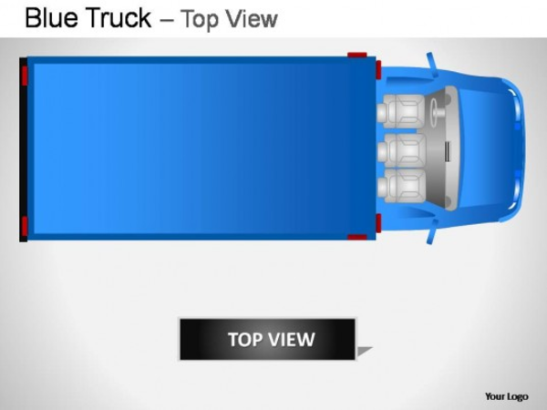 Blue Truck Top View Powerpoint Presentation Slides Slide imageTruck Top View Png
