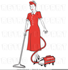 Retro Housewife Clipart Free Image