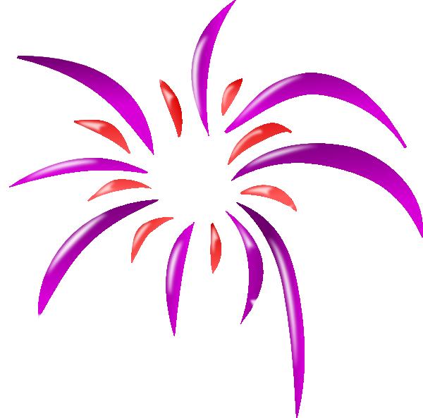 Firework 2 Colors Clip Art at Clker.com - vector clip art online ...