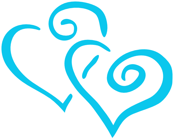 Intertwined Teal Hearts Clip Art At Clker Com Vector
