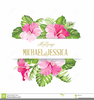 Tropical Floral Clipart Image