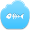 Free Blue Cloud Fish Skeleton Image